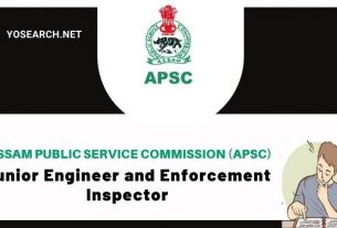 APSC Recruitment 2020 for 92 Posts of Junior Engineer and Enforcement Inspector