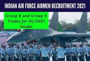 Indian Air Force Airmen Recruitment 2021