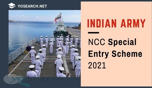 Indian Army NCC Special Entry Scheme 2021