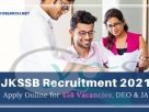 JKSSB Recruitment 2021