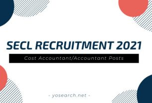 SECL Recruitment Notification