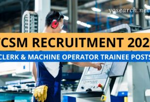 TCSM Recruitment 2021