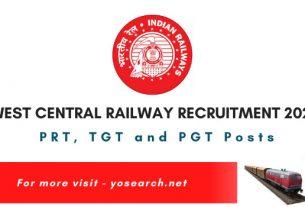 West Central Railway Teacher Recruitment 2021