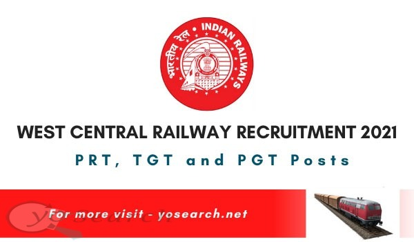 West Central Railway Teacher Recruitment 2021