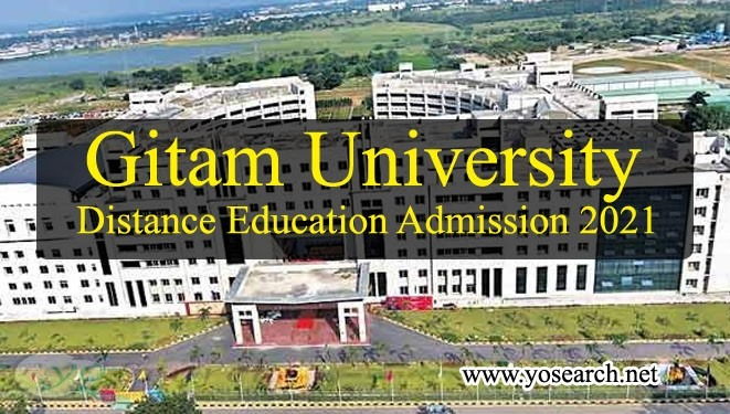 Gitam University Distance Education Admission 2021