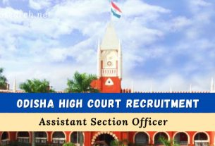 odisha high court aso recruitment