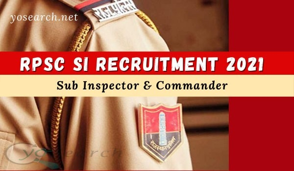 RPSC SI Recruitment 2021