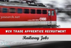 WCR Trade Apprentice Recruitment 2021