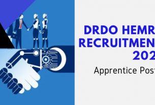 DRDO HEMRL Apprentice Recruitment 2021
