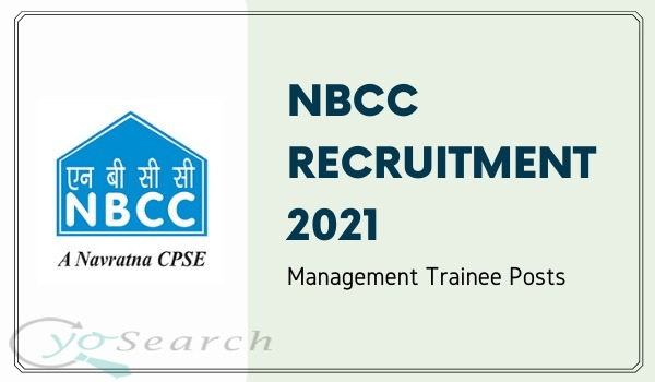 NBCC Management Trainee Recruitment 2021