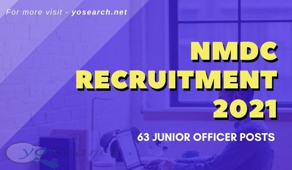 nmdc junior officer recruitment 2021
