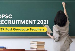 OPSC PGT Recruitment 2021