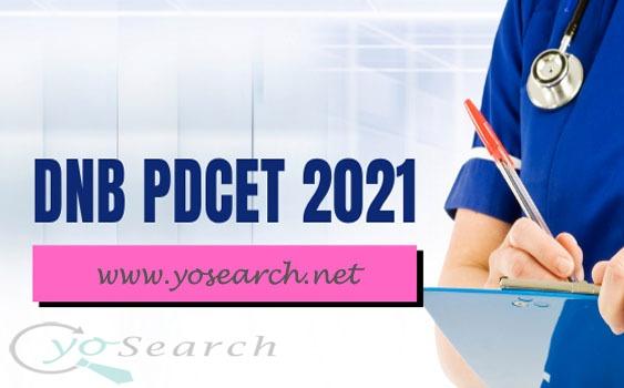 DNB PDCET 2021 Exam