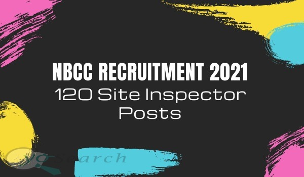 nbcc site inspector recruitment 2021