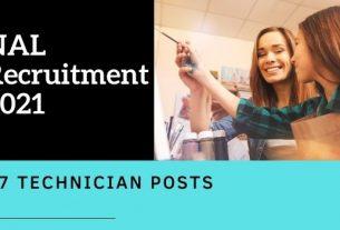 NAL Technician Recruitment 2021