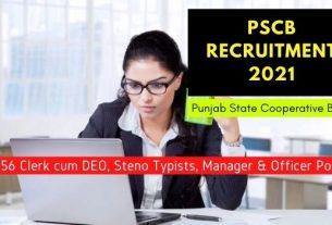 Punjab State Cooperative Bank Various Recruitment 2021