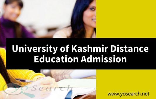 University of Kashmir Distance Education Admission