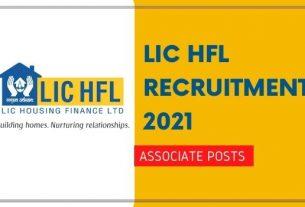 LIC HFL Associate Recruitment 2021