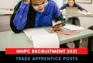NHPC Trade Apprentice Recruitment 2021