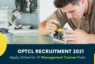 OPTCL Management Trainee (MT) Recruitment 2021