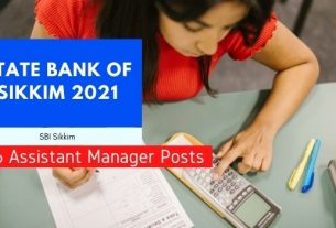 state bank of sikkim assistant manager recruitment 2021