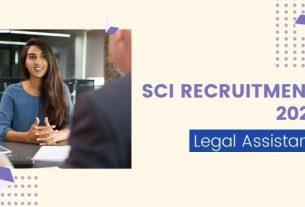 sci legal assistant recruitment 2021