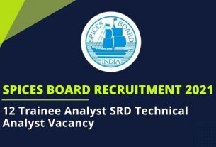 spices board recruitment 2021