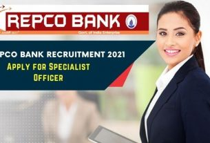 Repco Bank Specialist Officer Recruitment 2021