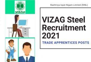 VIZAG Steel Trade Apprentice Recruitment 2021
