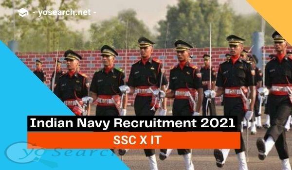 Indian Navy SSC Officer (IT) Recruitment 2021