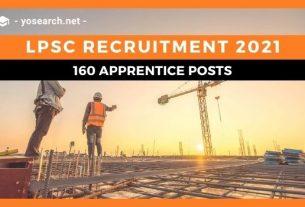 LPSC Apprentice Recruitment 2021