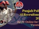 Punjab Police SI Recruitment 2021