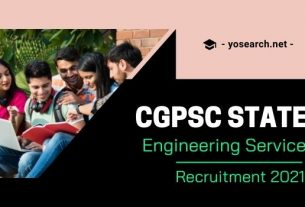 CGPSC State Engineering Service Recruitment 2021