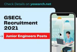 GSECL Junior Engineer Recruitment 2021
