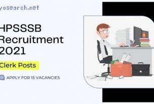 hpsssb clerk recruitment 2021