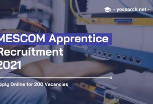 MESCOM Apprentice Recruitment 2021