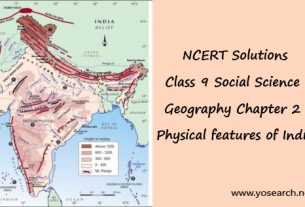 NCERT Solutions for Class 9 Social Science Geography Chapter 2 Physical features of India