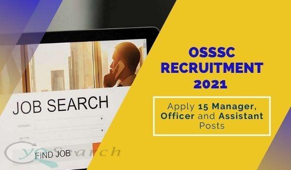 OSSSC SFS Recruitment 2021