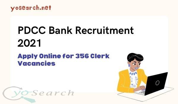 PDCC Bank Clerk Recruitment 2021