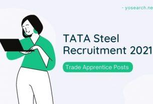 TATA Steel Trade Apprentice Recruitment 2021