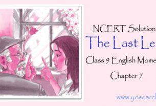 The Last Leaf Class 9 English Moments Chapter 7 NCERT Solutions