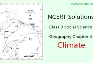 NCERT Solutions for Class 9 Geography Chapter 4 Climate Question Answers