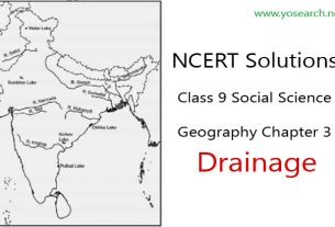 NCERT Solutions for Class 9 Social Science Geography Chapter 3 Drainage