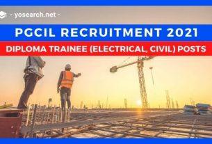 pgcil diploma trainee recruitment 2021