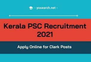 Kerala PSC Clerk Recruitment 2021