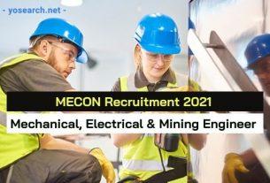 MECON Recruitment 2021