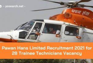 pawan hans trainee technician recruitment 2021