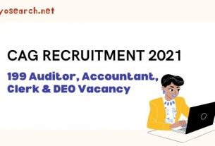 CAG Delhi Recruitment 2021 for 199 Clerk and AuditorAccountant Posts