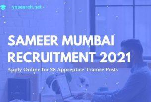 SAMEER Mumbai Recruitment 2021