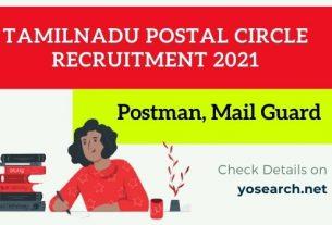 tamilnadu postal circle recruitment 2021